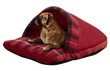 Beatrice Home Fashions Plaid Slipper Pet Bed
