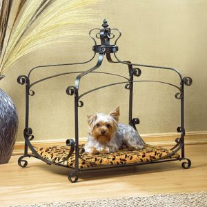 Furniture Creations Royal Splendor Pet Metal Canopy Bed