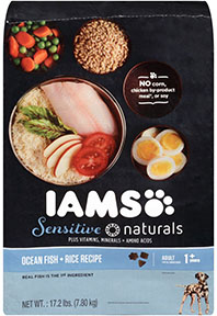 IAMS Sensitive Naturals Adult Ocean Fish and Rice Recipe Dry Dog Food