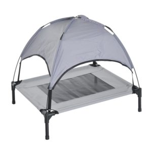 Pawhut Elevated Cooling Dog Bed Cot with Canopy