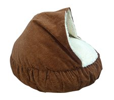 Paws and Claws Spiro Embossed Micro Velvet Round Bed