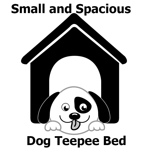 Small and Spacious Dog Teepee Bed
